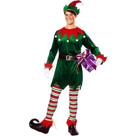 CHRISTMAS ELF ADULT UNISEX COSTUME](Elf Costume Adults Homemade)