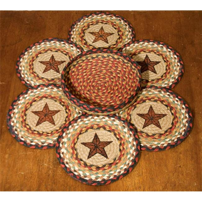 Capitol Importing 56-019BS Barn Star - Set of 7 Trivets in a Basket