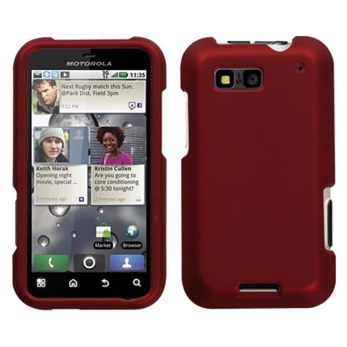 INSTEN Titanium Solid Red Phone Case for MOTOROLA: MB525 (Defy)