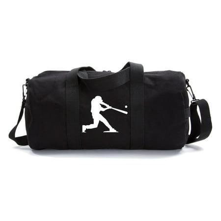 Baseball Player Army Heavyweight Canvas Duffel (Best Rolling Baseball Bags)