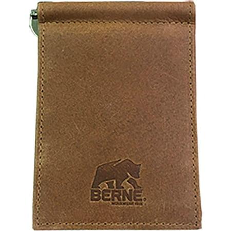 Berne Men's Genuine Leather Money Clip Wallet - 7504003-210