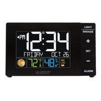 Deals on La Crosse Technology Color Alarm Clock w/emperature and USB Port