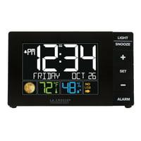 La Crosse Technology Color Alarm Clock with Temperature and USB Port