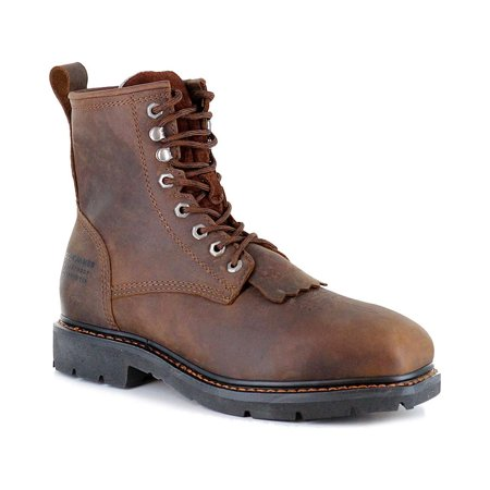 "Cody James Men's 8"" Lace Up Kiltie Waterproof Work Boot Composite Toe - Cwpr8"
