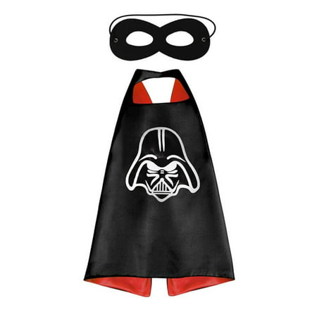 Star Wars Costume - Darth Vader Logo Cape and Mask with Gift Box by Superheroes - Dark Vader Costume Child