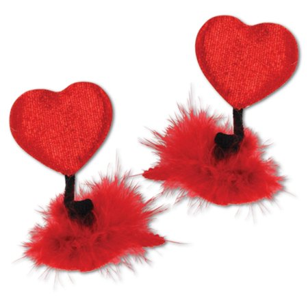 f304a6989c6 Club Pack of 24 Red Heart Hair Clip Valentine s Day Party Favor Costume  Accessories - Walmart.com