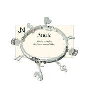 Music Theme Charm Bracelet Music is what feelings sound like