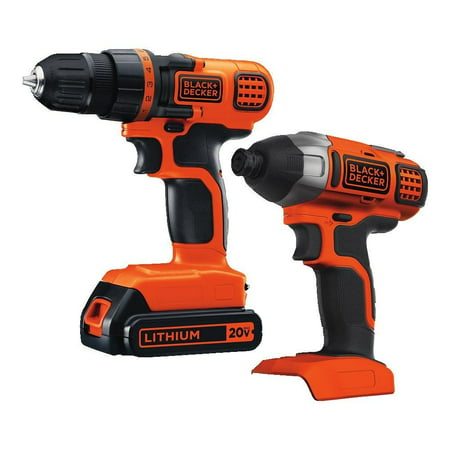BLACK+DECKER 20-Volt MAX* 1.5 Ah Cordless Lithium-Ion Drill And Impact Driver Combo Kit,