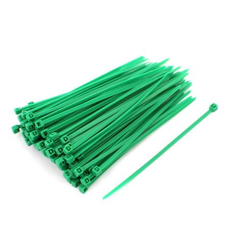 bbaf85619db4 3mm x 100mm Self Locking Nylon Cable Ties Industrial Wire Zip Ties Green  100pcs - image ...