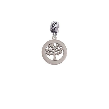 Life Celtic Knot - Stainless Steel Tree of Life in Eternity Ring - Celtic Knot Charm Bead