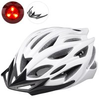 Yescom In-mold Bicycle Helmet CPSC w/ LED Light Detachable Visor 25 Vents Insect Mesh Adult MTB Road  Cycling Color Opt