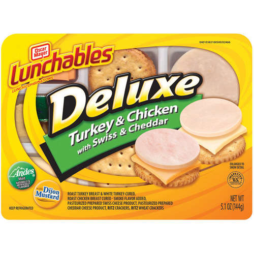 Oscar Mayer Lunchables: Deluxe Turkey & Chicken W/Swiss & Cheddar Lunch Combination, 5.10 oz