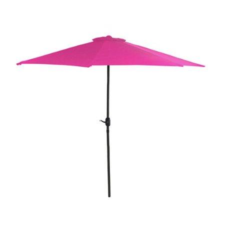 7.5' Outdoor Patio Market Umbrella with Hand Crank - Hot Pink - 7.5' Outdoor Patio Market Umbrella With Hand Crank - Hot Pink