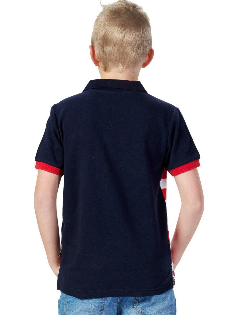 Leo&Lily Big Boys Casual Red White Stripy Polo Short Sleeve (16, red)