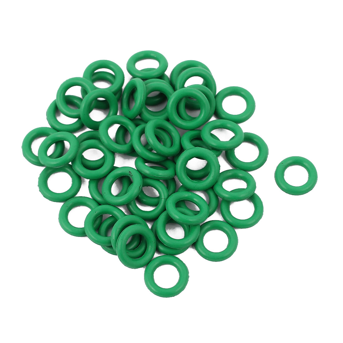 50pcs 1.5mm Thick Heat Resistant Mini Green O-Ring Rubber Sealing Ring 7mm OD - image 2 of 2