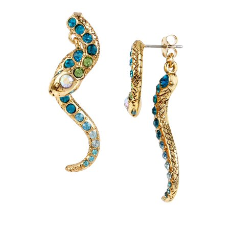 Ocean Drive Pave Crystal Snake Front and Back Linear