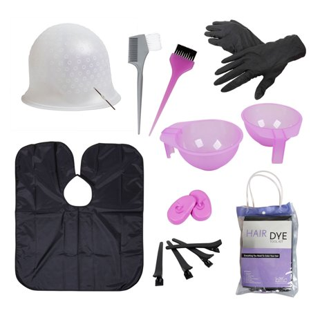 BMC Hair Dye Coloring Tool Kit-Highlighting Cap, Hook, Brush, Bowl ...