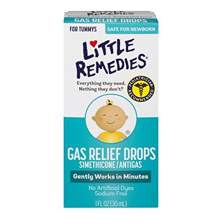 Little Remedies Gas Relief Drops | Natural Berry Flavor | 1 oz. | Pack of 1 | Gently Works in Minutes | Safe for Newborns 1 Fl. Oz (1 (Best Remedy For Newborn Gas)