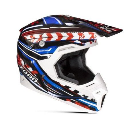 Zoan 521 193 Synchrony Mx Helmet  Monster Black Red Blue   Xs