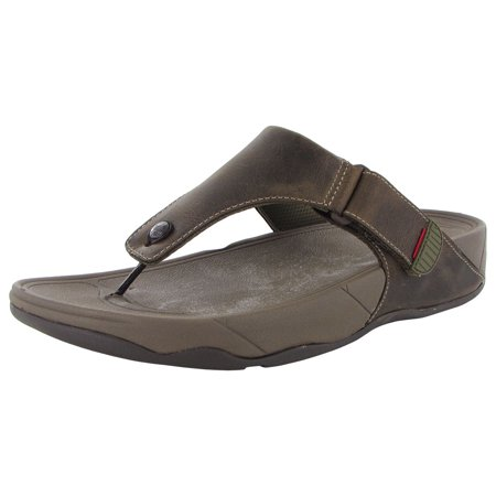 f36d4ab2c FitFlop - FitFlop Mens Trakk II Leather Flip Flop Sandal Shoes - Walmart.com