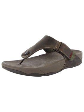 cc74d424e08557 Product Image FitFlop Mens Trakk II Leather Flip Flop Sandal Shoes