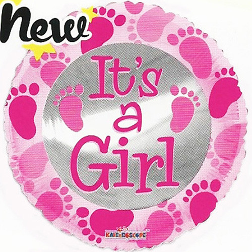 "18"" It's a Girl Baby Shower Foil / Mylar Balloons ( 6 Balloons )"