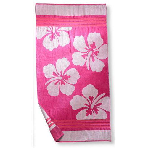 Simple Luxury Hawaiian Flower Beach Towel