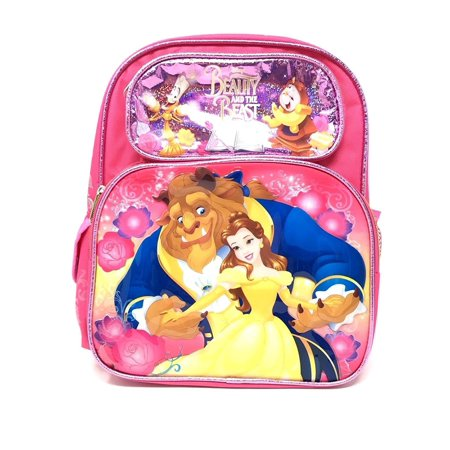 "Beauty and the Beast School Backpack 12"" Medium Belle Girls Backpack Book Bag, 1 main zipperedWalmartpartment By Licensed Beauty and the Beast"