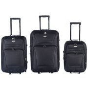 GLOBALWAY Expandable 3 PCs Luggage Travel Set Trolley Bag Suitcase 2 Wheels by Costway