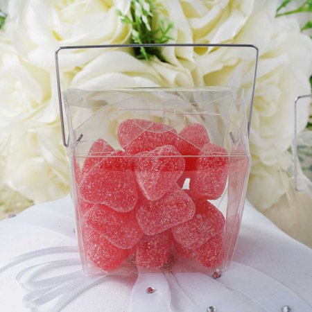 "BalsaCircle Clear 25 pcs 2.5"" Chinese Take Out Wedding Favors Boxes - Party Candy Gifts Packaging Decorations Supplies"