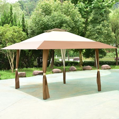 (Costway 13'x13' Folding Gazebo Canopy Shelter Awning Tent Patio Garden Outdoor Companion)