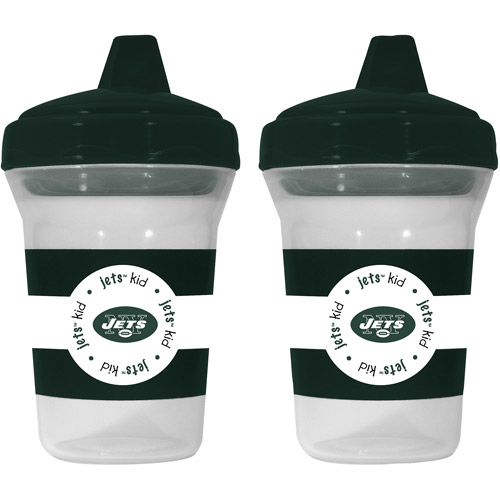 Baby Fanatic New York Jets 2-Pack Sippy Cup, BPA-Free