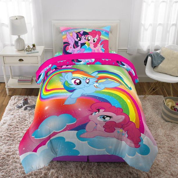 My Little Pony Bed in a Bag, Kids Bedding Bundle Set, 5 Piece Full