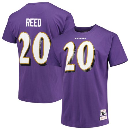 best service 5ab39 1b791 Ed Reed Baltimore Ravens Mitchell & Ness Retired Player Name and Number  T-Shirt - Purple