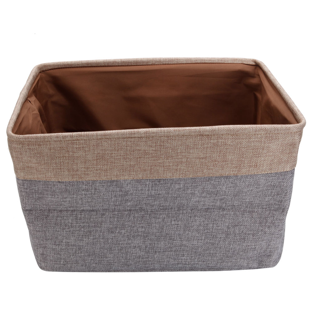 Zimtown Portable Storage Box Bins Home Tops-off Fabric Cotton Cloth Large Carrying Handle