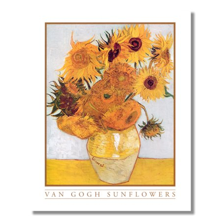 Sunflowers in Flower Vase #1 Vincent Van Gogh Wall Picture 8x10 Art -