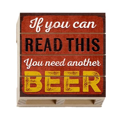 Highland Woodcrafters Read This Beer Wood Pallet Coaster
