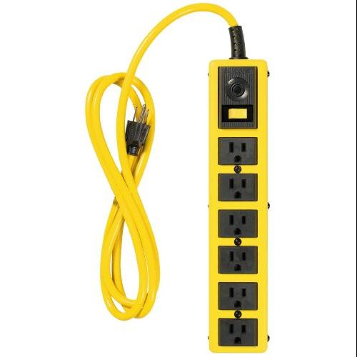 Coleman Cable 5139 Yj 6 Outlet Met Strip 6' Cord