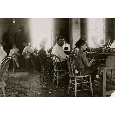 These boys were surely under 14 Cigar makers in Englehardt Co Tampa Fla Poster Print](Its A Boy Cigars)