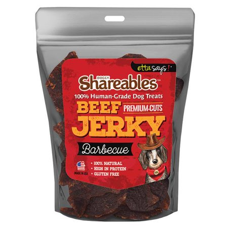 Etta Says 41400708 Shareables Beef Jerky Barbecue Dog Treats, 2.85 oz - Bbc Food Halloween Treats
