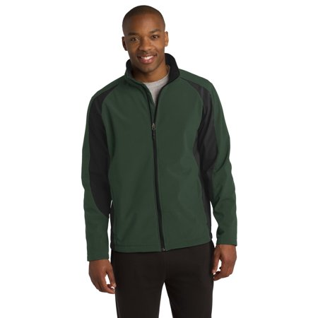Sport-Tek® Colorblock Soft Shell Jacket. St970 Forest Green/ Black 2Xl - image 1 de 1