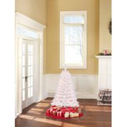 Holiday Time Pre-Lit 4' Indiana Spruce White Artificial Christmas Tree, Clear Lights