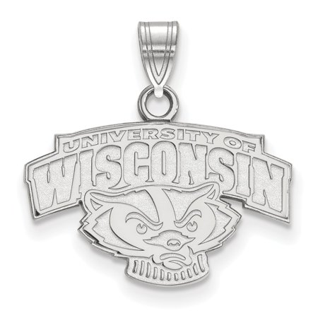 925 Sterling Silver University Of Wisconsin Badgers Charm Pendant   Small