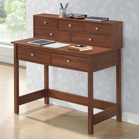 Techni Mobili Elegant Desk Hall Table with Storage in Oak - image 4 de 4