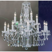 Daniele 12-Light Crystal Chandelier (Chrome - Crystalique)