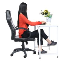 Gaming Chair High Back Computer Chair Leather Modern Style Office Chairs Black
