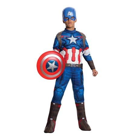 Costume Avengers 2 Age of Ultron Child's Deluxe Captain America Costume, Medium, Rubie's Costume Avengers 2 Age of Ultron Child's Deluxe Captain.., By Rubie's