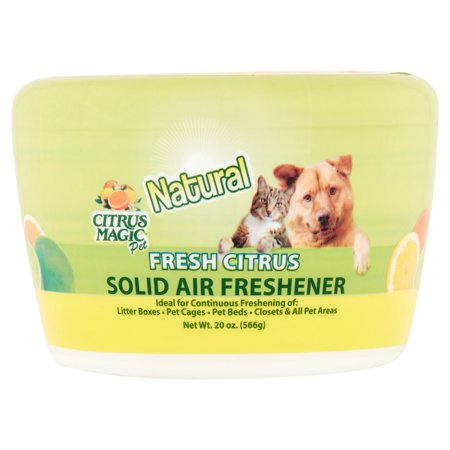 Citrus Magic Pet Natural Fresh Citrus Solid Air Freshener, 20 oz