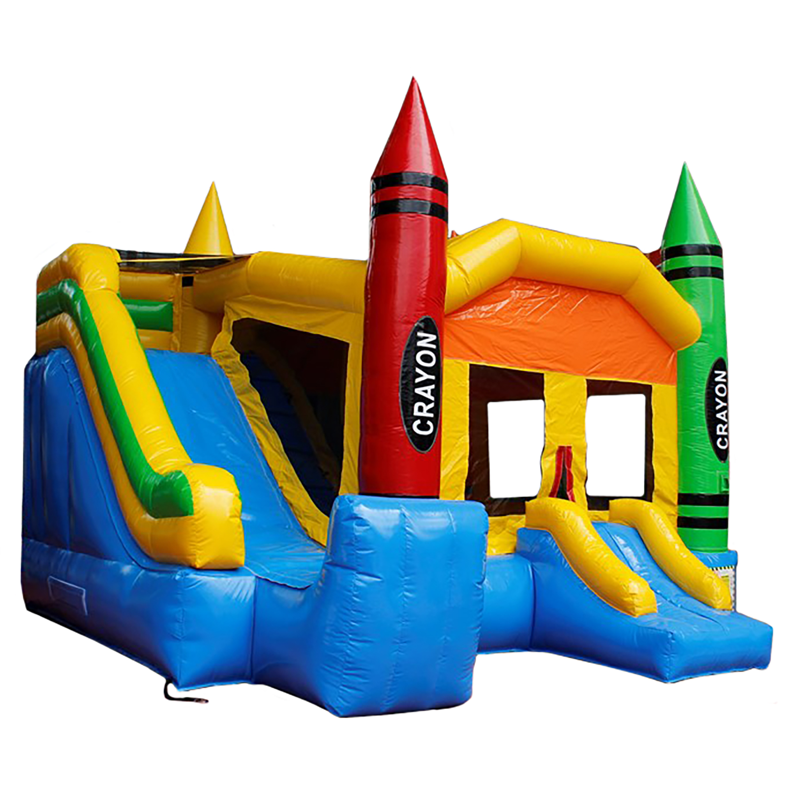 Crayon Theme Inflatable Waterslide Combo Commercial Bounce House by
