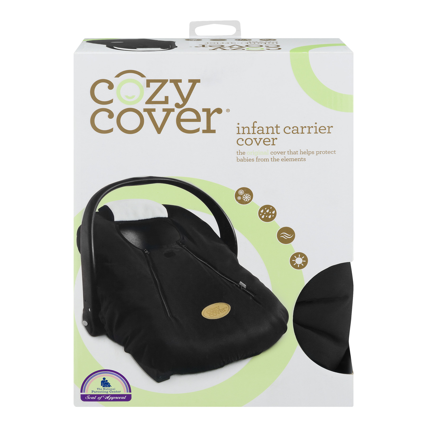 Cozy Cover Infant Carrier Cover, Black